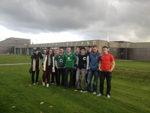 The Yeats class pictured outside FAI headquarters in Abbottstown.