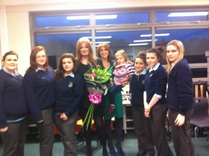 Ms Shannagh Cassidy pictured with Ms Mc Geehan and the Gaisce students Einna Harris, Lydia Strain, Casey Doherty, Sophie Quigley, Leigh Mc Cafferty and Jocelyn Mc Glinchey. Also included is Miss Abbie Mc Geehan.