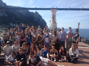 A relaxed bunch of students pictured in Capri on a glorious Italian April morning...