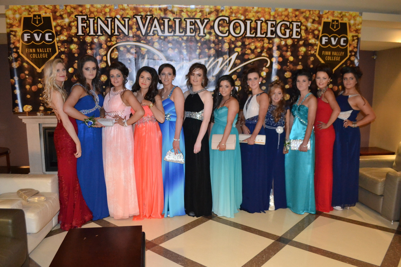 Some of the glamorous Leaving Cert girls pictured at their prom