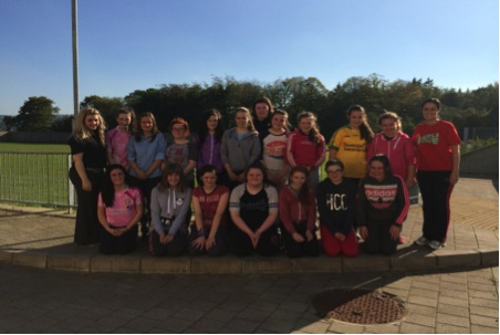 The Girls Active participants pictured with Ms Gallagher