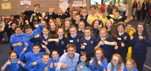 Some of the budding entrepreneurs pictured with Jason Black