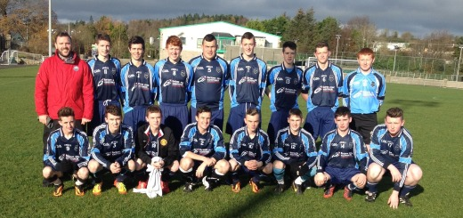 The senior boys squad pictured before their 2-0 victory over Colaiste Ailigh