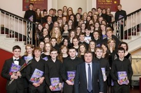 Donegal Youth Orchestra NCH Staircase 8 Feb 2014