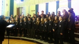 Choir performing at  Derry International Choral Festival